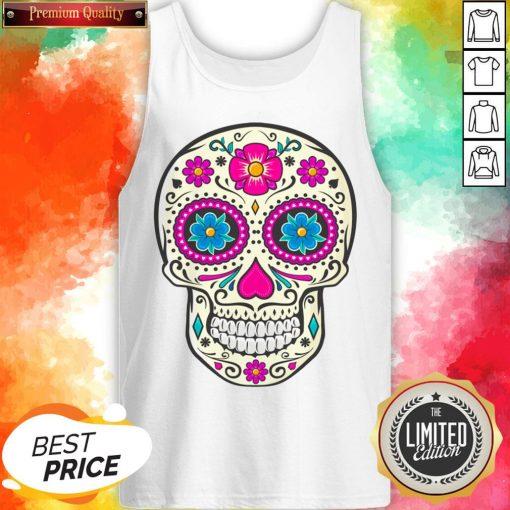 Sugar Skull Dead Dia De Los Muertos Tank Top