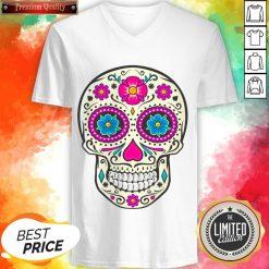 Sugar Skull Dead Dia De Los Muertos V-neck