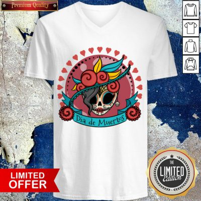 Sugar Skull Dia De Los Muertos Day Of Dead V-neck