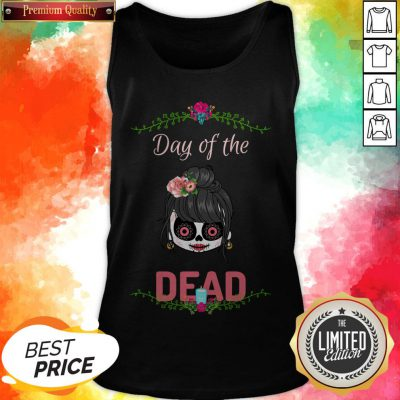 Sugar Skull Girl Day Of The Dead Tank Top