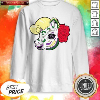 Sugar Skull Pony Day Of The Dead Dia De Muertos Sweatshirt