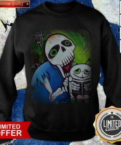 Sugar Skulls Cat Guardians Day Of The Dead Dia De Muertos Sweatshirt