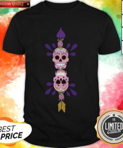 Sugar Skulls In Love Day Of The Dead Shirt