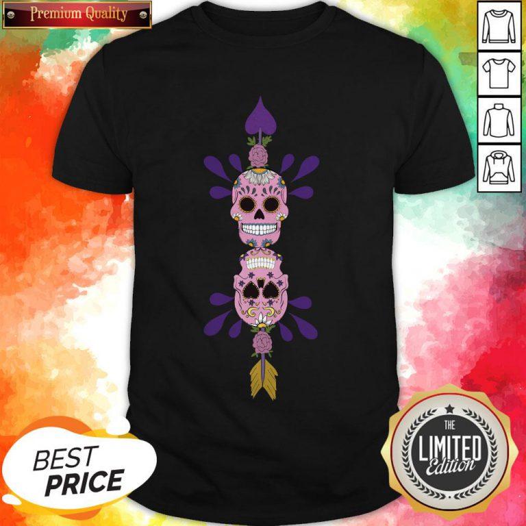 Sugar Skulls In Love Day Of The Dead Shirt