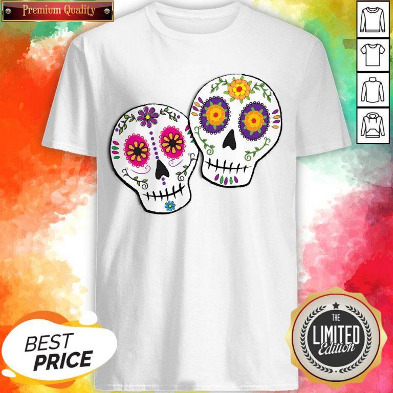Sunshine Sugar Skulls Dia De Muertos Day Of Dead Shirt