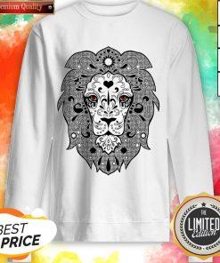 Vecta Lion Day Of The Dead Dia De Los Muertos Sweatshirt