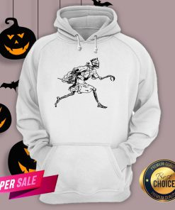 Vintage Retro Scary Skeleton King Halloween Hoodie