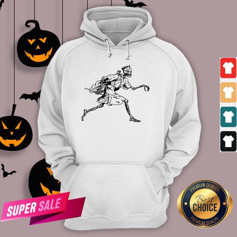 Vintage Retro Scary Skeleton King Halloween Hoodie