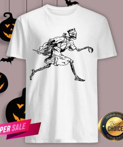 Vintage Retro Scary Skeleton King Halloween Shirt