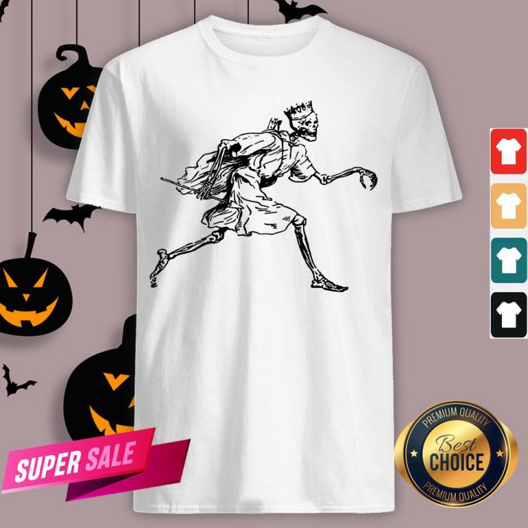Vintage Retro Scary Skeleton King Halloween Shirt