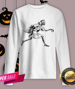 Vintage Retro Scary Skeleton King Halloween Sweatshirt