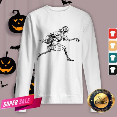 Vintage Retro Scary Skeleton King Halloween Sweatshirt