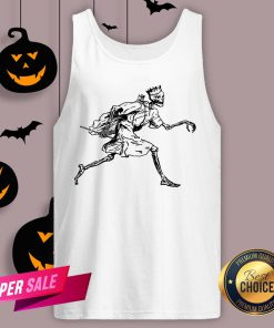 Vintage Retro Scary Skeleton King Halloween Tank Top