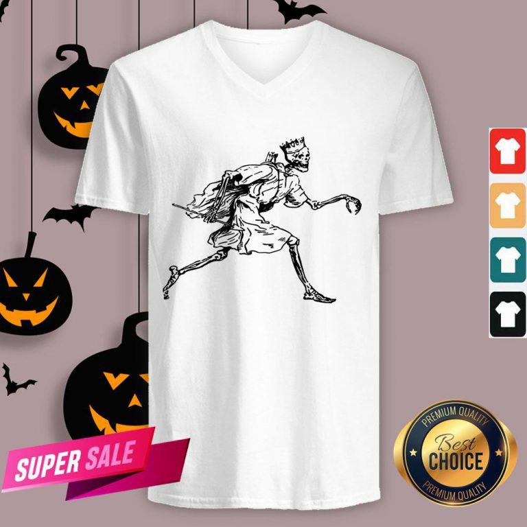 Vintage Retro Scary Skeleton King Halloween Tank Top
