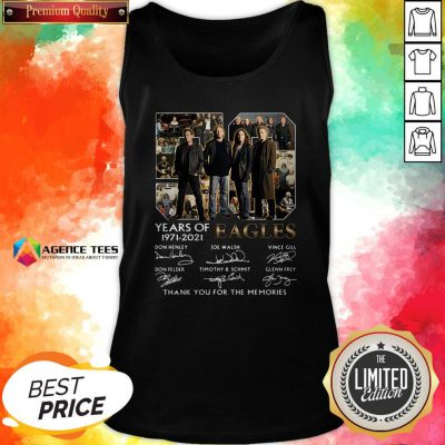 50 Years Of 1971 – 2021 Eagles Thank You For The Memories Signatures Tank Top