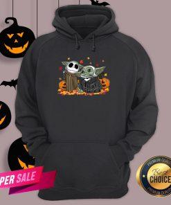 Baby Yoda And Baby Jack Skellington Pumpkin Halloween Hoodie