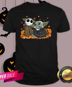 Baby Yoda And Baby Jack Skellington Pumpkin Halloween Shirt