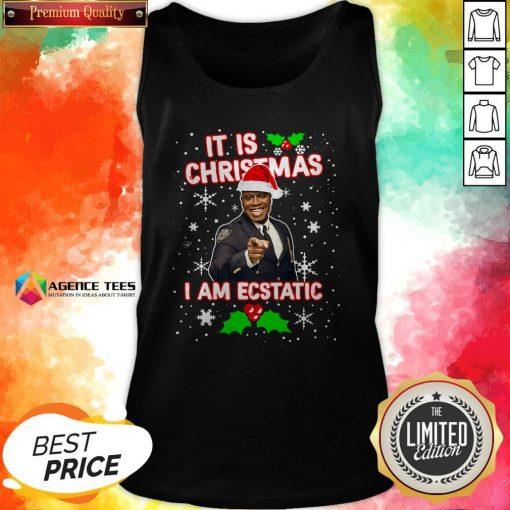 Captain Raymond Holt It Is Christmas I Am Ecstatic Tank Top
