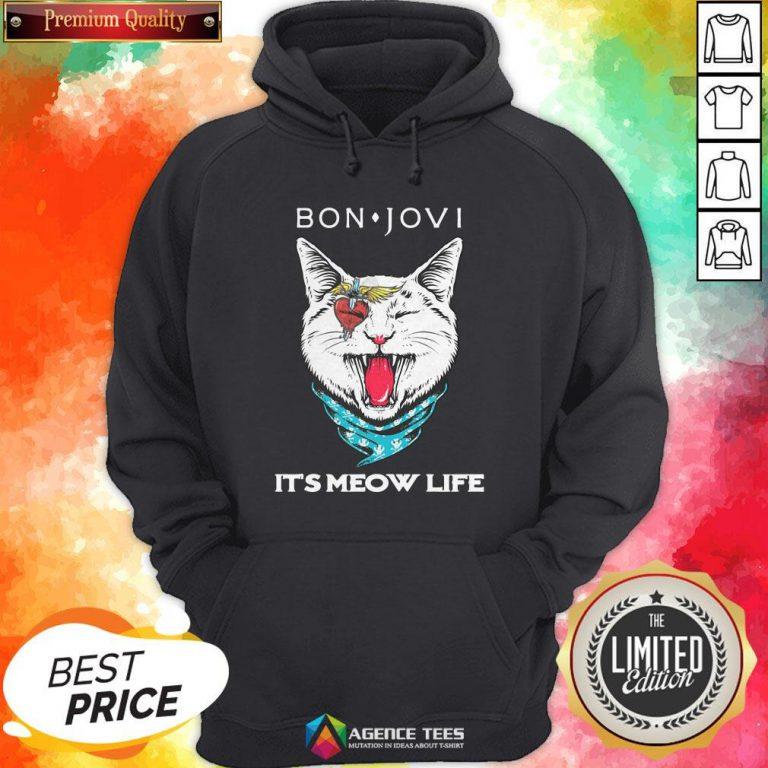 Cat Bon Jovi It's Meow Life Hoodie