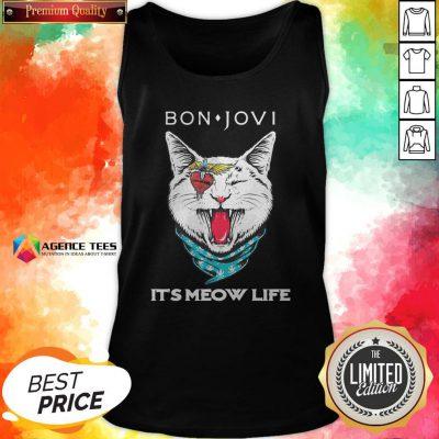 Cat Bon Jovi It's Meow Life Tank Top