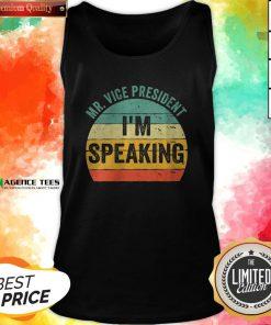 Debate Quote 2020 Vintage Mr Vice President I'm Speaking Tank Top