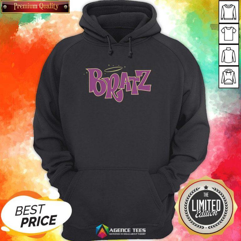 Funny Bratz Pink Logo Hoodie Design By Agencet.com