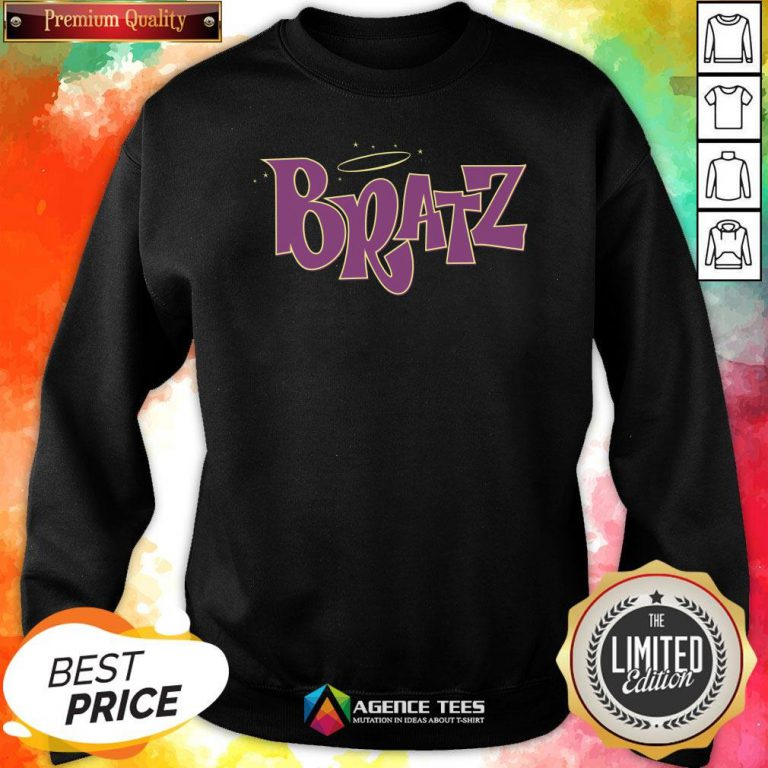 Funny Bratz Pink Logo Sweatshirt Design By Agencet.com