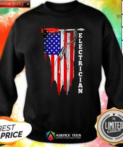 Funny Electrician American Flag Vintage Sweatshirt Design By Agencet.com