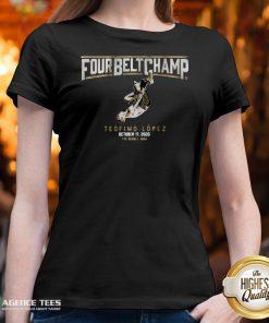 Funny Four Belt Champ Teofimo Lopez October 17 2020 V-neck Design By Agencet.com