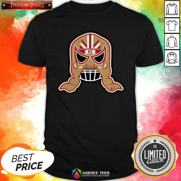 Funny George Kittle Lucha Mask 85 Shirt