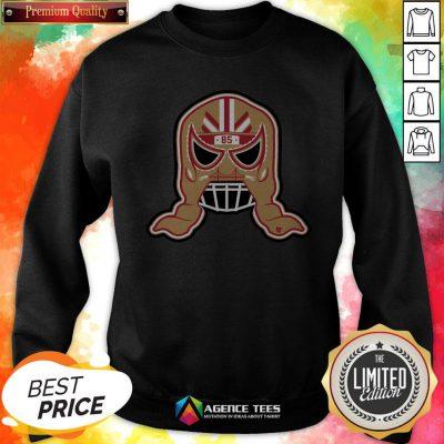 Funny George Kittle Lucha Mask 85 Sweatshirt