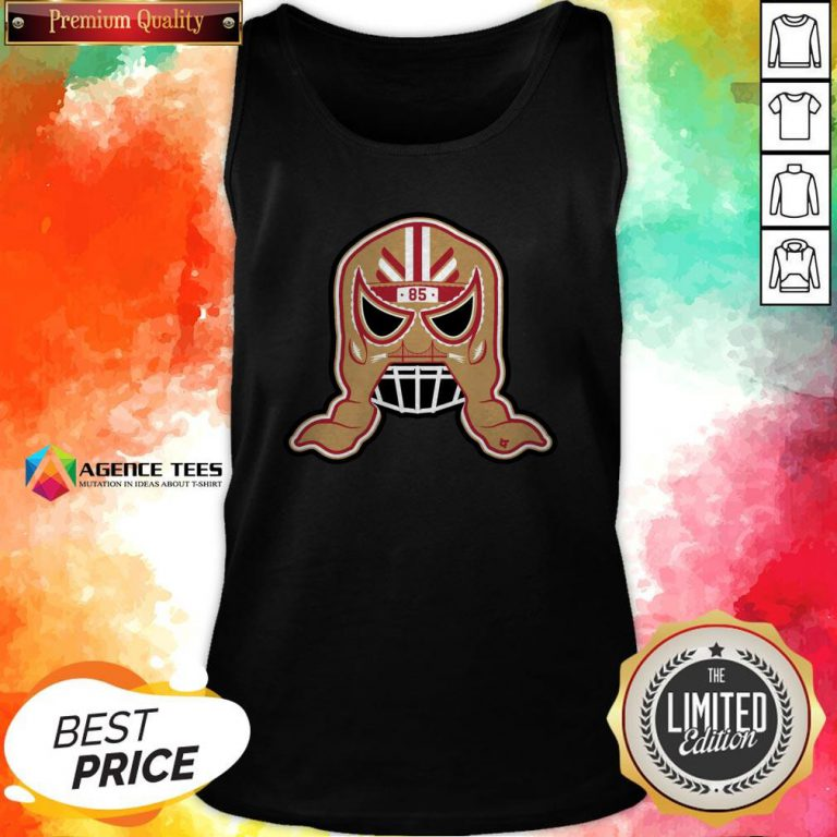 Funny George Kittle Lucha Mask 85 Tank Top