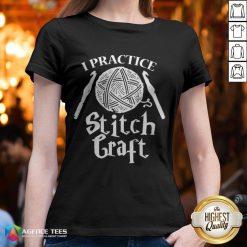 Funny I Practice Stitch Craft V-neck