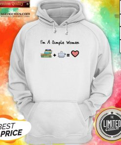 Funny I'm A Simple Woman Book Coffee And Heart Hoodie Design By Lordoftee.com