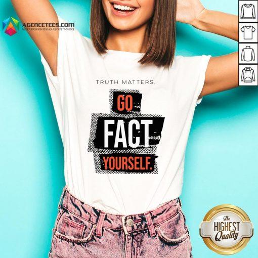 Funny John Pavlovitz Go Fact Yourself V-neck Design By Agencet.com