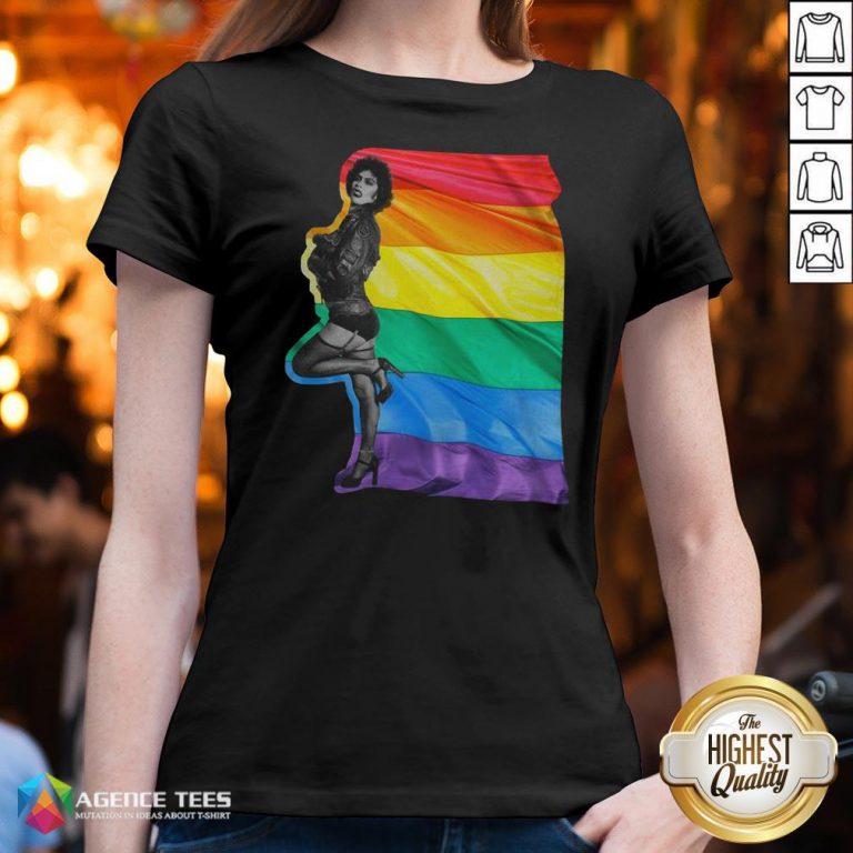 Funny LGBT Frank N Furter The Rocky Horror Picture Show V-neck Design By Agencet.com
