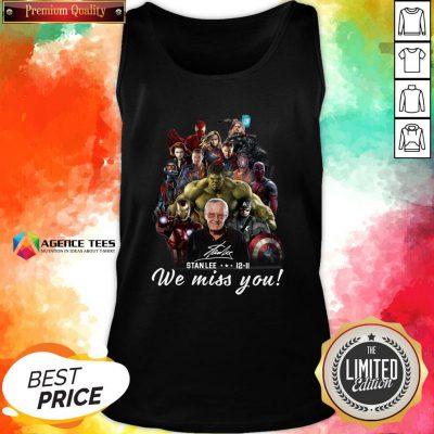 Funny Marvel Avenger We Miss You Stanlee 12-11 Signature Tank Top Design By Agencet.com