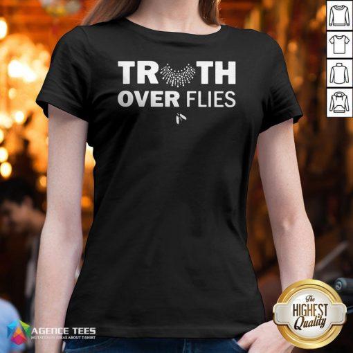 Funny Truth Over Flies V-neck