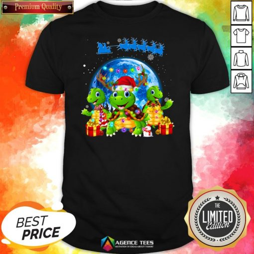 Funny Turtles Merry Christmas Shirt Design By Agencet.com