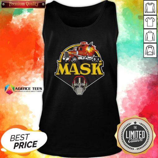 Funny Urban Backwoods Mask Vintage Logo Tank Top Design By Agencet.com