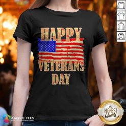 Happy Veterans Day American V-neck