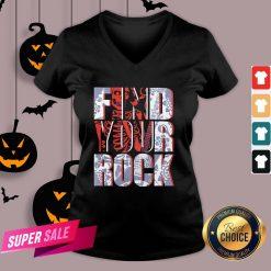 Hot Find Your Rock Skeleton Halloween V-neck Design By Agencet.com