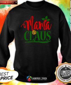 Hot Mama Santa Claus Hat Christmas Matching Family Group Pajama Sweatshirt Design By Agencet.com