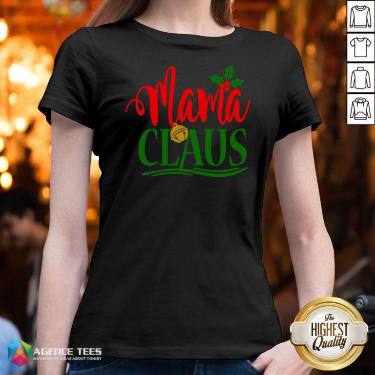 Hot Mama Santa Claus Hat Christmas Matching Family Group Pajama V-neck Design By Agencet.com