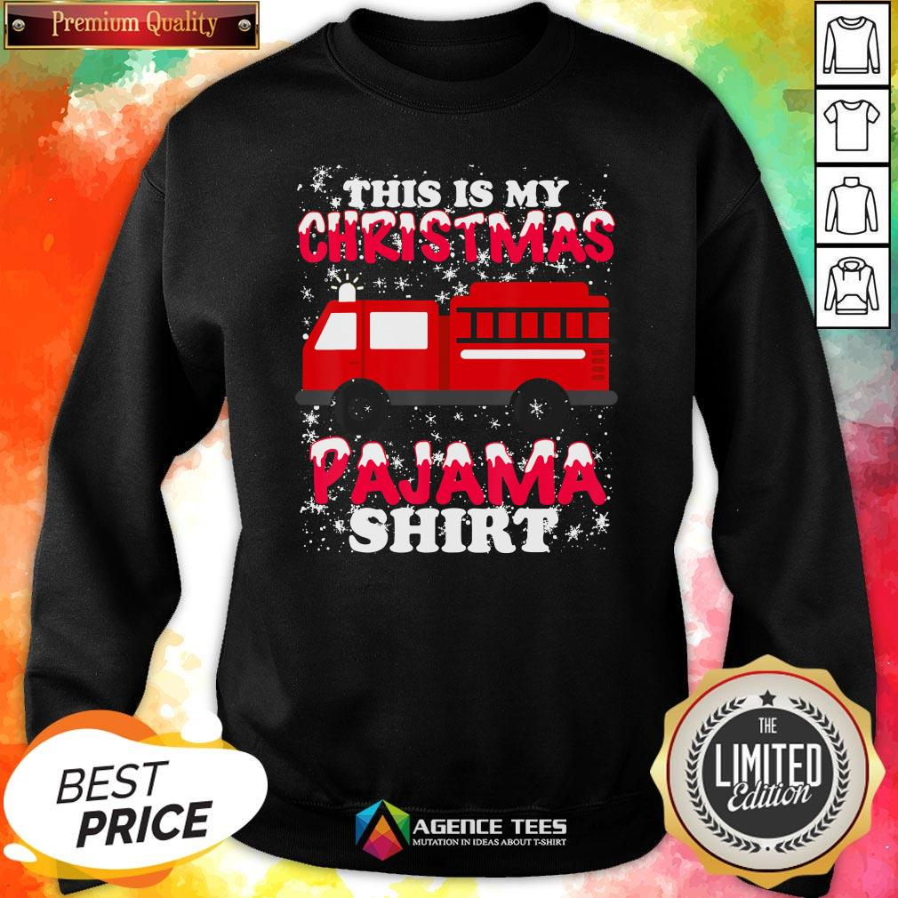 Hot This Is My Christmas Pajama Fire Truck Sweatshirt Design By Agencet.com