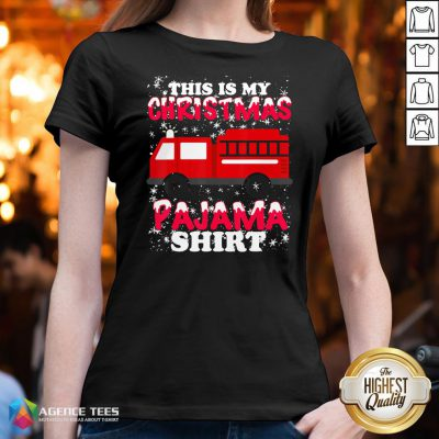 Hot This Is My Christmas Pajama Fire Truck V-neck Design By Agencet.com