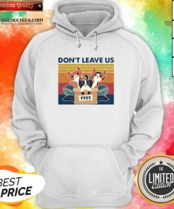 Hot Three Cats Don't Leave Us Hoodie Design By Agencet.com