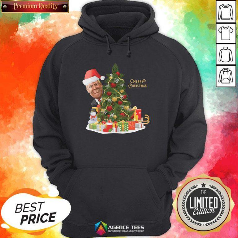 Hot Trump Merry Christmas Hoodie Design By Agencet.com
