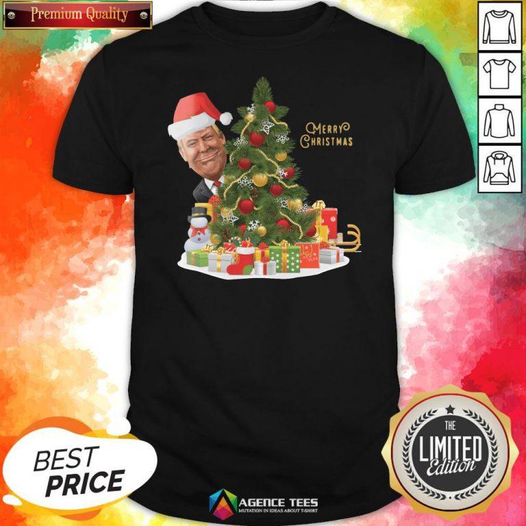 Hot Trump Merry Christmas Shirt Design By Agencet.com