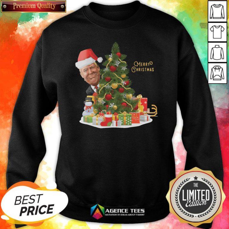 Hot Trump Merry Christmas Sweatshirt Design By Agencet.com